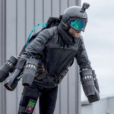 image: Jet suit over Leeds