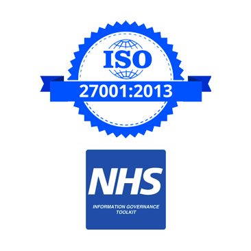 image: ISO and NHS security standards
