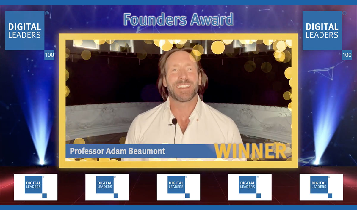 Prof.Adam Beaumont wins the Digital Leaders 2020 Founders award